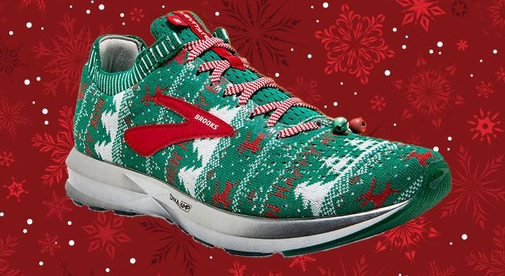 Brooks ugly sweater shoes womens